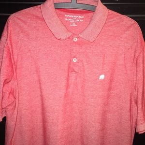 🆕 Banana republic red knit polo